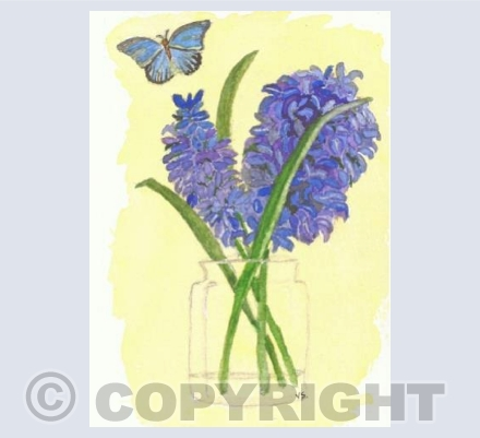 Blue Hyacinth by Valerie Simpson
