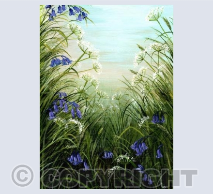 """Bluebell Meadow"" by Natasha Pitts"
