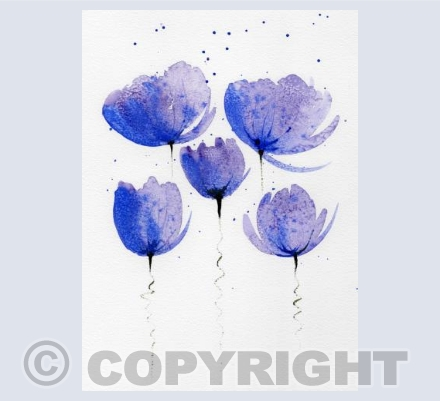 Purple Poppies on a String