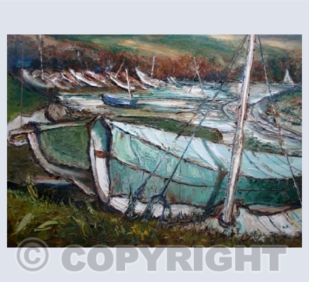 Sailing boats in Cornwall