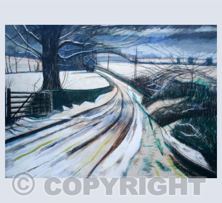 Snow lane in the Mendips