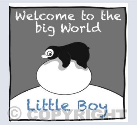 Welcome to the big world little boy