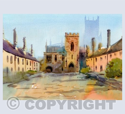 Vicars Close Watercolour