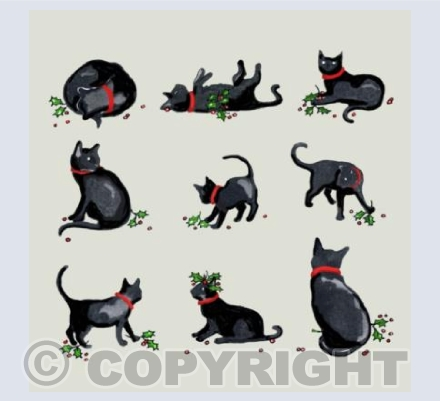 9 christmas cats