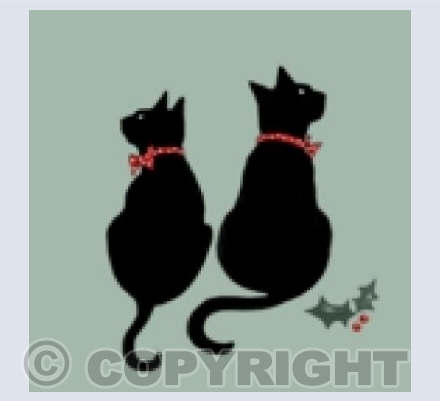 Two Christmas cats