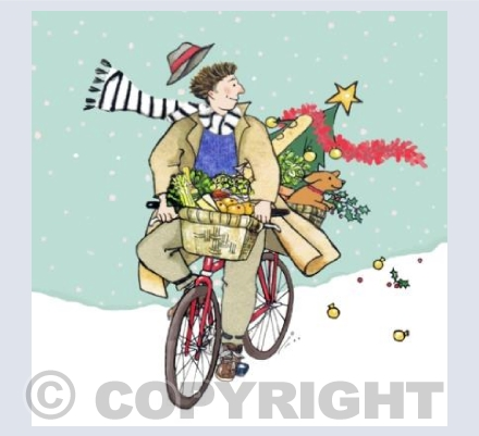 Christmas on a bike
