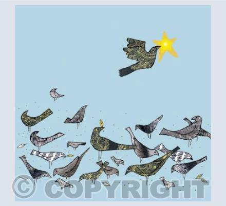 Grey birds Gold star