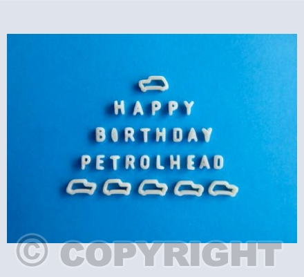 Happy Birthday Petrolhead - Blue