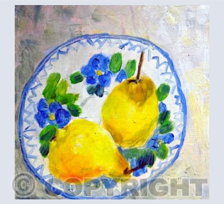 Pears on a Spanish Saucer