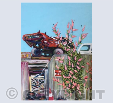 Scrapyard and Buddleia