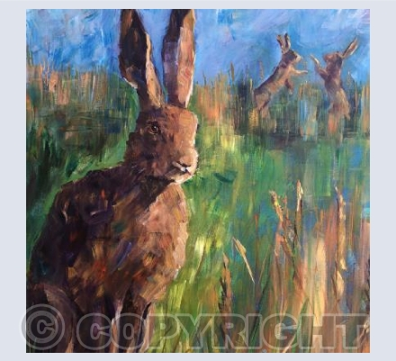 Hare with Boxing Hares - KAM010