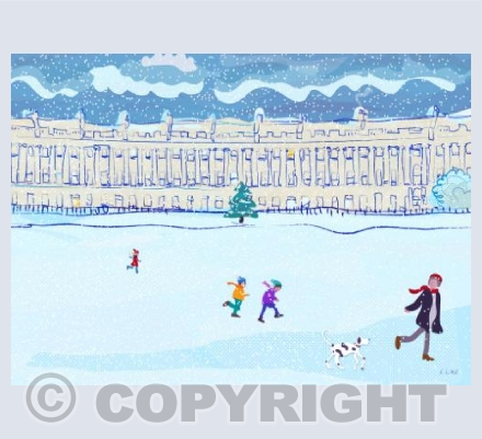 The Royal Crescent with Christmas Tree
