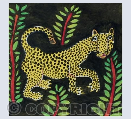 Leopard in the dark Jungle