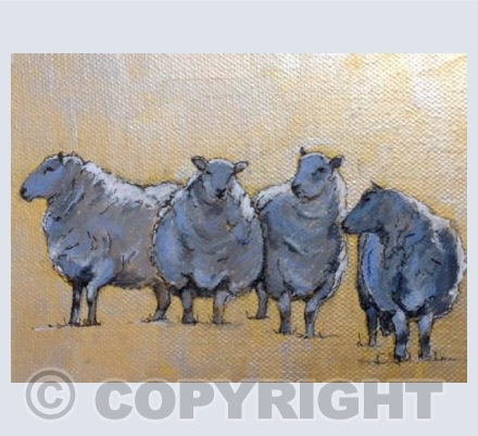 Sheep on Gold