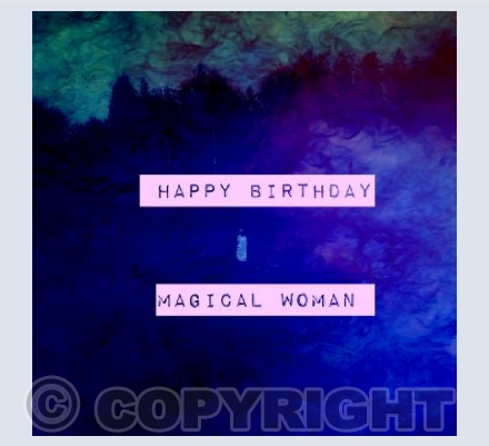 Happy Birthday Magical Woman Bold