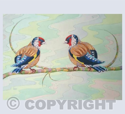 Patterned Gold Finches