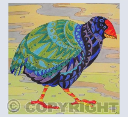 Patterned Takahe