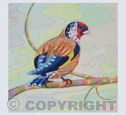 Patterned Goldfinch