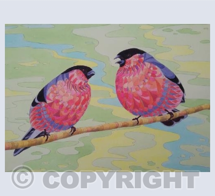 Patterned Bullfinches