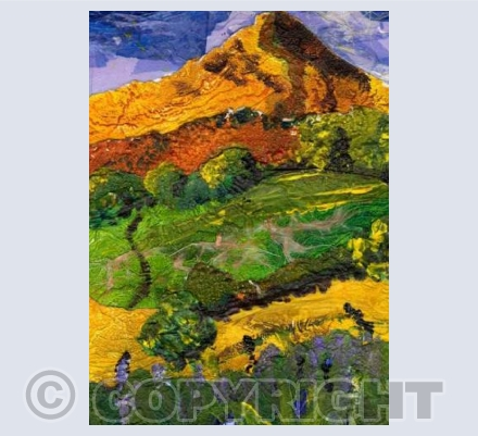 Roseberry Topping - Hockney Style