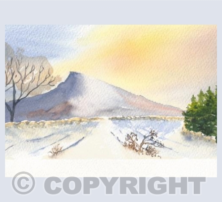 Roseberry Topping in Snow