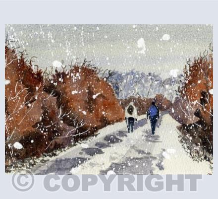 Hikers in the Snow