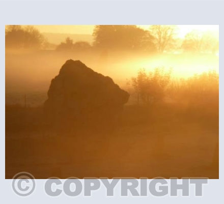 Avebury Orange Sunrise