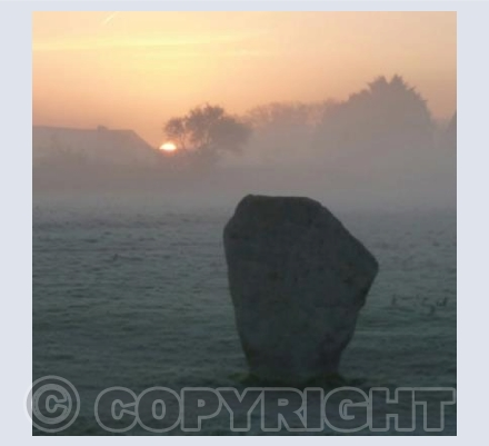 Avebury Misty Sunrise