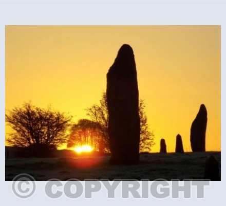 Avebury Golden Sunrise