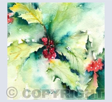 Watercolour Holly