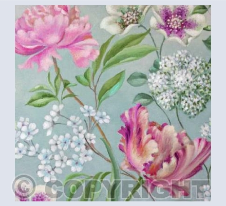 Floral Trail - Greetings Card