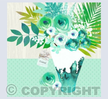 Green Ink Droplet Bouquet
