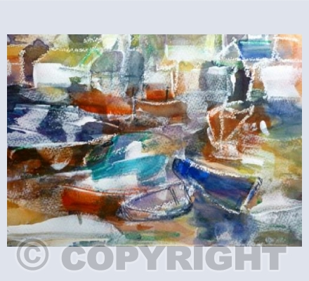 Beached Boats, Polperro