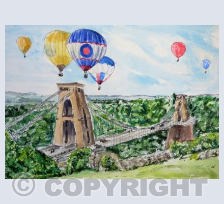 Bristol - bridge with balloons