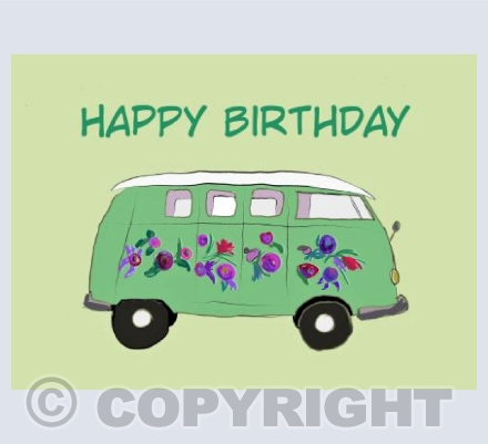 Birthday camper van