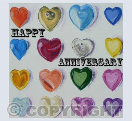 Anniversary Button Hearts