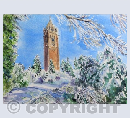 Bristol - Cabot Tower in Snow