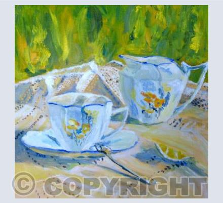 Summer tea table