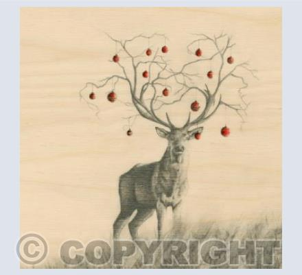 Tree Stag with Baubles