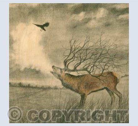 Tree Stag and Crow