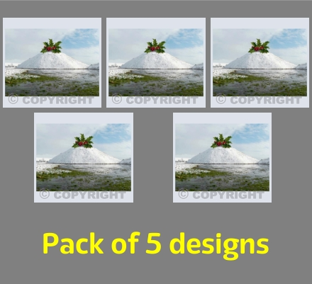Festive Silbury 5 card Pack