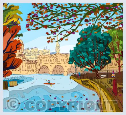 Bath Landscapes Greetings Cards