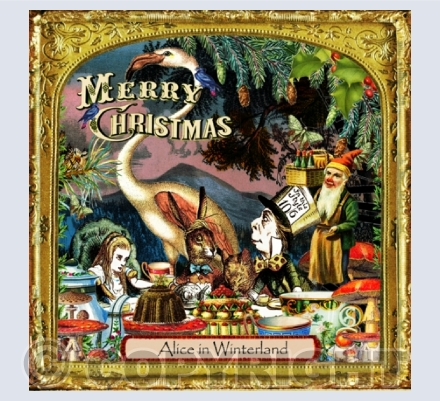 Alice in Winterland Xmas Card