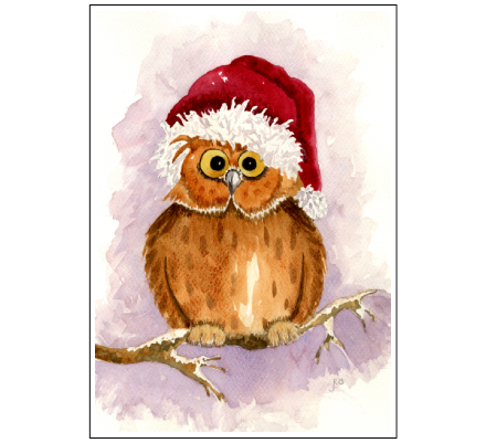 Christmas Owl by Janet Robertson