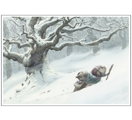 Pushing Through The Snow by Chris Dunn Illustration